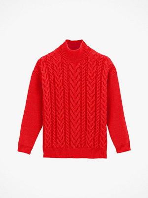 Tröjor - La Redoute Kabelstickad tröja med hög krage