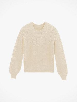 Tröjor - La Redoute Mönsterstickad tröja med rund halsringning och puffärm
