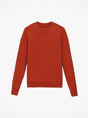 La Redoute Finstickad tröja med rund halsringning och hålmönster