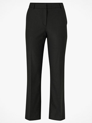 Selected Femme Byxor slfAda MW Cropped Flared Pant svarta