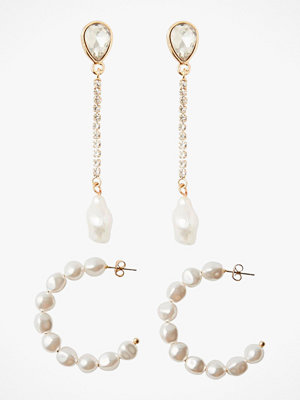 Pieces smycke Örhängen pcJosephine Earrings Key 2-pack