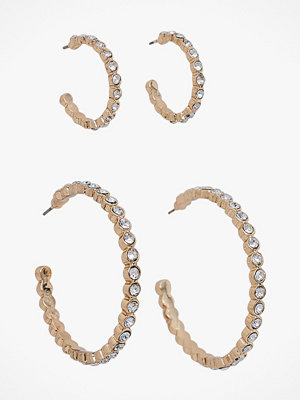Pieces smycke Örhängen pcJamie Hoop Earrings Key 2-pack