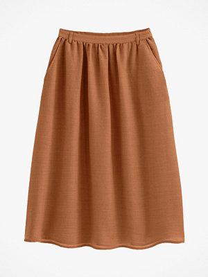 La Redoute Lång kjol i glesvävt yllematerial
