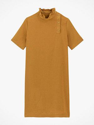 La Redoute Kort, rak klänning med hög krage och kort ärm