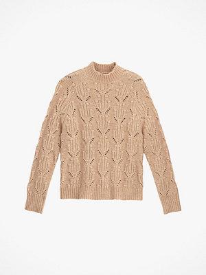 La Redoute Grovstickad tröja med hög halsringning och hålmönster