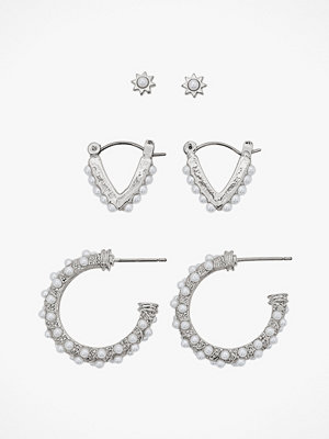Pieces smycke Örhängen pcNivi Hoop Earrings 3-pack