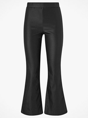 Vila svarta byxor Leggings viCommit Coated Hwsl New Cropped Pants