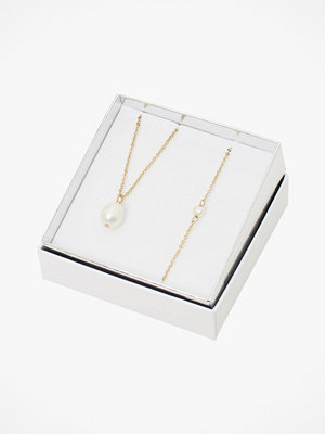 SNÖ of Sweden smycke Halsband Crystal Pearl Neck Set 2-pack