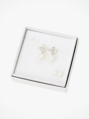 SNÖ of Sweden smycke Örhängen Crystal Pearl Ear Set 3-pack