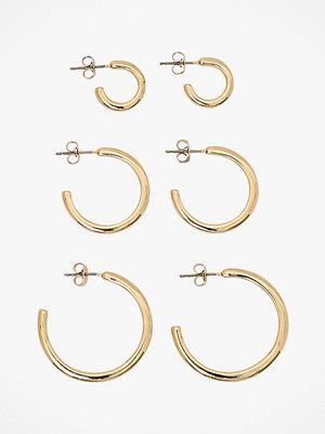 Pieces smycke Örhängen pcJune 3-pack Hoop Earrings