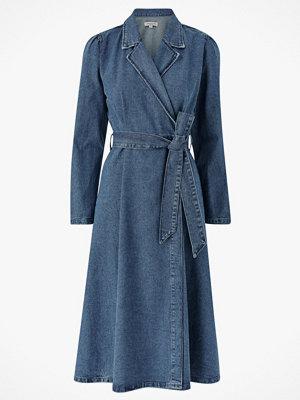 Selected Femme Jeansklänning slfHarper LS Fray Blue Denim Dress