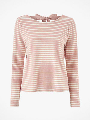 Only Topp onlElly Stripe L/S Bow Top