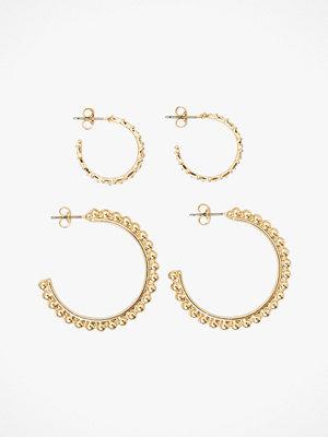 Pieces smycke Örhängen pcJillian 2-pack Hoop Earrings