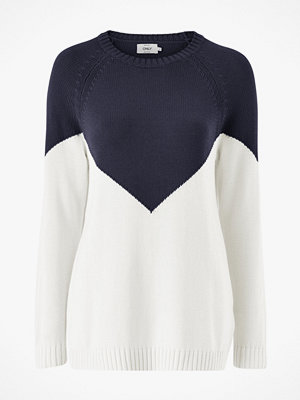 Only Tröja onlSara L/S Block Pullover CC Knt