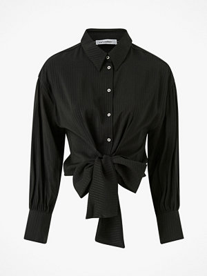 co'couture Blus Remi Band Tie Shirt