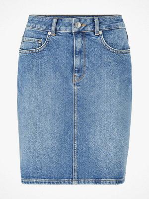 Selected Femme Jeanskjol slfKenna MW Mid Blue Denim Skirt W