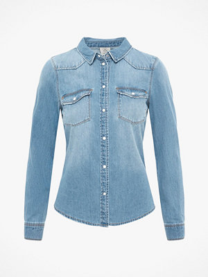 Vero Moda Jeansskjorta vmMaria LS Dnm Slim Shirt Mix