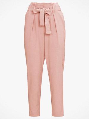 Only Byxor onlNicole Paperbag Ankel Pants persikofärgade