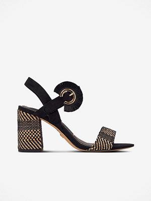 Sandaler & sandaletter - Tamaris Sandalett med textilkädd klack