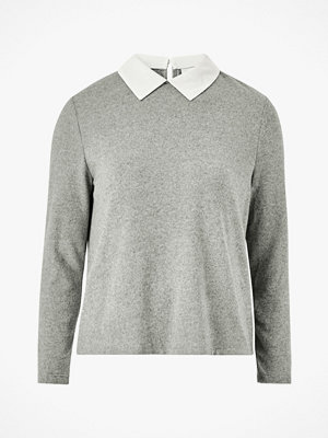 Jacqueline de Yong Tröja jdyChoice Treats L/S Mix Collar Top