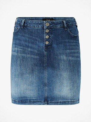 Zizzi Jeanskjol jAlly Knee Lenght Skirt