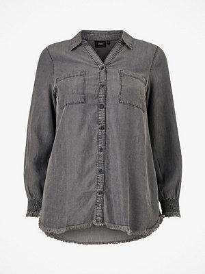 Zizzi Skjorta mNille L/S Smock Shirt