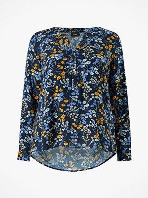 Zizzi Blus vViga L/S V-neck Shirt