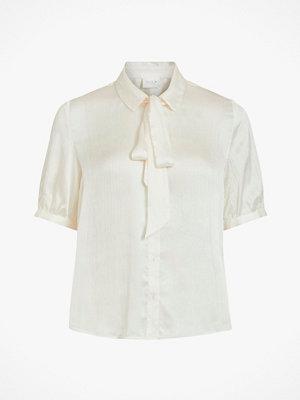 Vila Knytblus viSuwavey S/S Bow Shirt