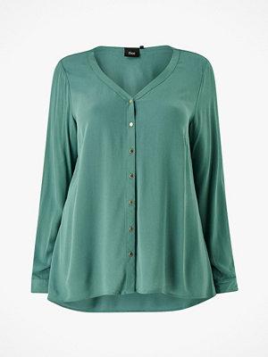 Zizzi Blus cAmone L/S V-neck Shirt