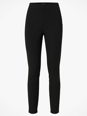 Selected Femme Byxor slfIlue HW Cropped Slim Pant svarta