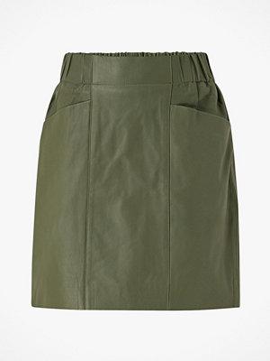 Y.a.s Skinnkjol yasRobin HW Leather Skirt