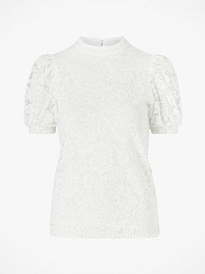 Vila Spetstopp viLilja S/S Puff Sleeve Lace Top