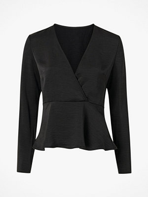 Vila Topp viZippa L/S Wrap Effect Top
