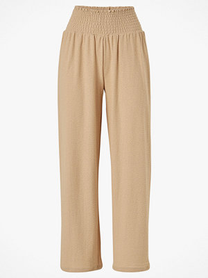 Pieces Byxor pcCurli HW Cropped Pants beige