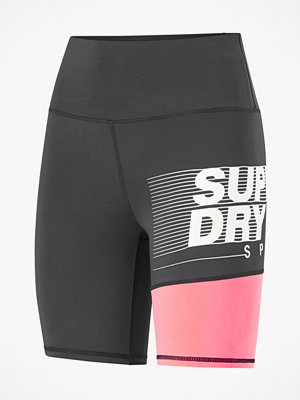 Sportkläder - Superdry Träningsshorts Training Graphic Tight Shorts