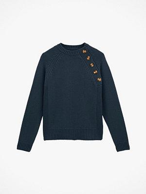 La Redoute Grovstickad tröja med rund halsringning och knäppning i sidan