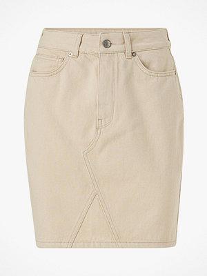 Kjolar - Selected Femme Jeanskjol slfHelena MW Jade White Denim Skirt