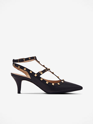 Shoebiz Pumps Helene Vegetal Gold Studs