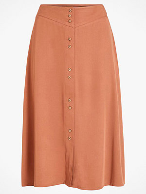 Vila Kjol viMorose HW Button Midi Skirt