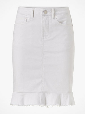 Kjolar - Vila Jeanskjol viCommit Peplum Denim Skirt