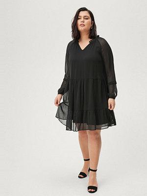 Zizzi Klänning xVananda L/S Blk Dress