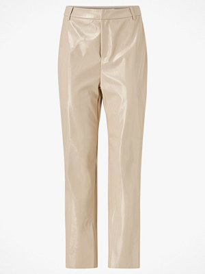 Gina Tricot Byxor Jane Vinyl Trousers omönstrade