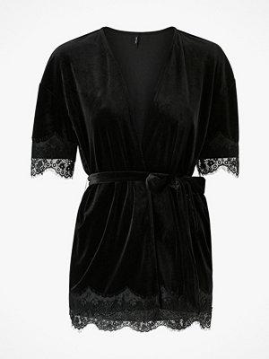 Vero Moda Sammetstopp/cardigan vmSkylar S/S Lace Velvet Tie Top