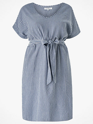 Only Carmakoma Klänning carIsa Life Stripe Dnm SS Knee Dress