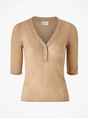 Vila Topp viWola Knit V-neck 1/2 Sleeve Top