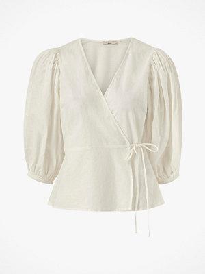 Blusar - Gina Tricot Omlottblus Ella Linen Wrap Shirt