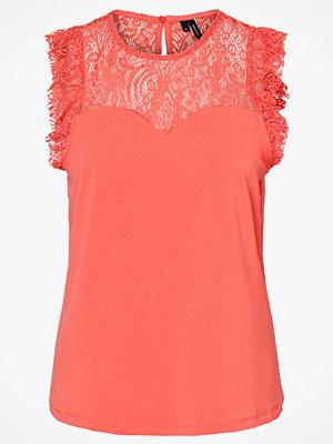 Vero Moda Topp vmAlberta Sweetheart Lace S/L Top Color