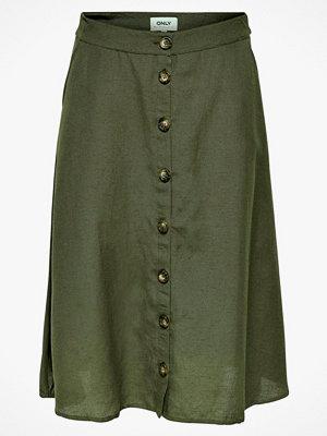 Only Kjol onlViva Life HW Button Skirt