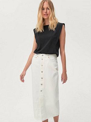 Levi's Jeanskjol Button Front Midi Skirt