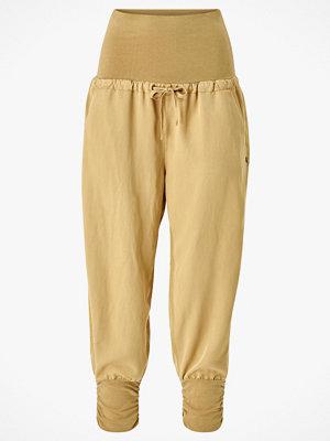 Cream Byxor Line Pants gula